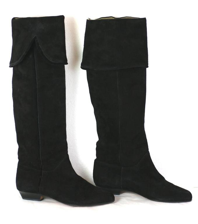 40edb4c539 Yves Saint Laurent High Black Suede Boots