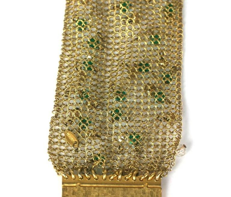 Sandor Jeweled Mesh Bracelet In Excellent Condition For Sale In Riverdale, NY