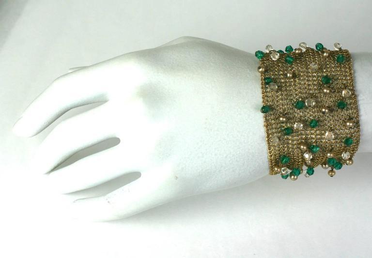 Women's Sandor Jeweled Mesh Bracelet For Sale