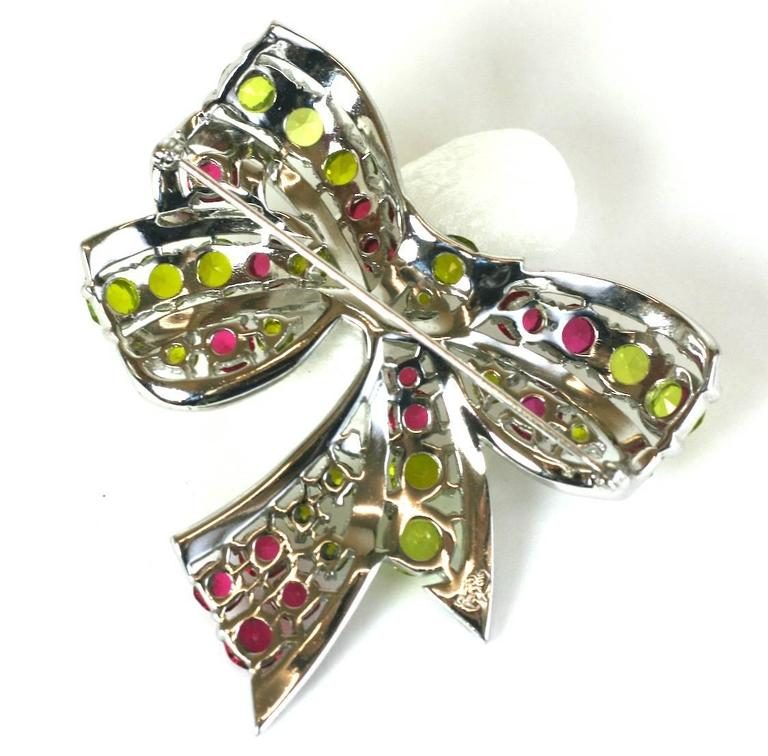 Exceptional Marcel Boucher Art Deco Bow Brooch For Sale 1
