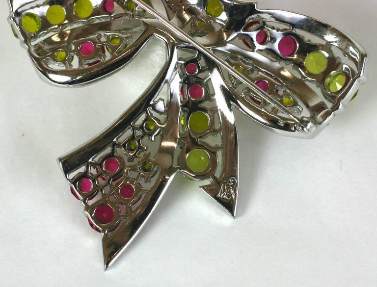 Exceptional Marcel Boucher Art Deco Bow Brooch For Sale 2