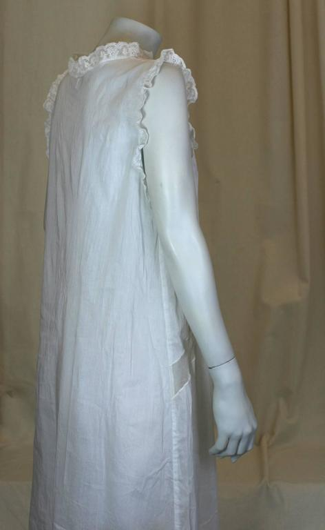 Tulle Inserted Lingerie Dress with Rose In Excellent Condition For Sale In Riverdale, NY