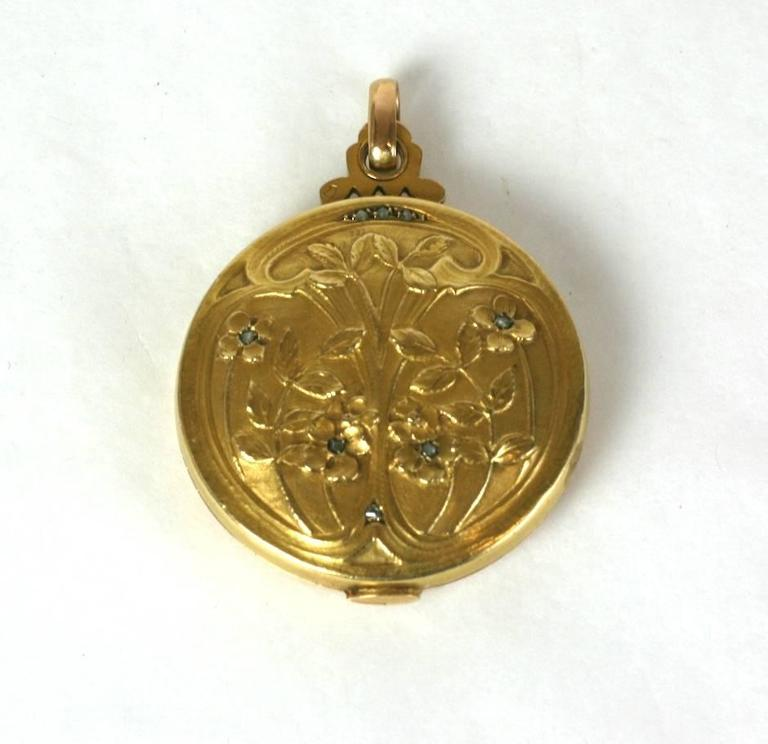 French Art Nouveau Picture and Mirror Locket 2