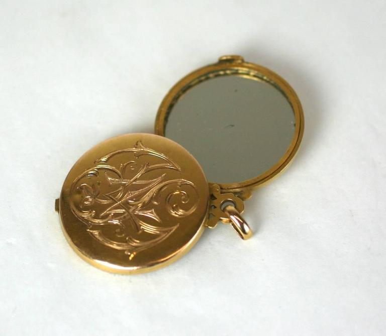 French Art Nouveau Picture and Mirror Locket 6