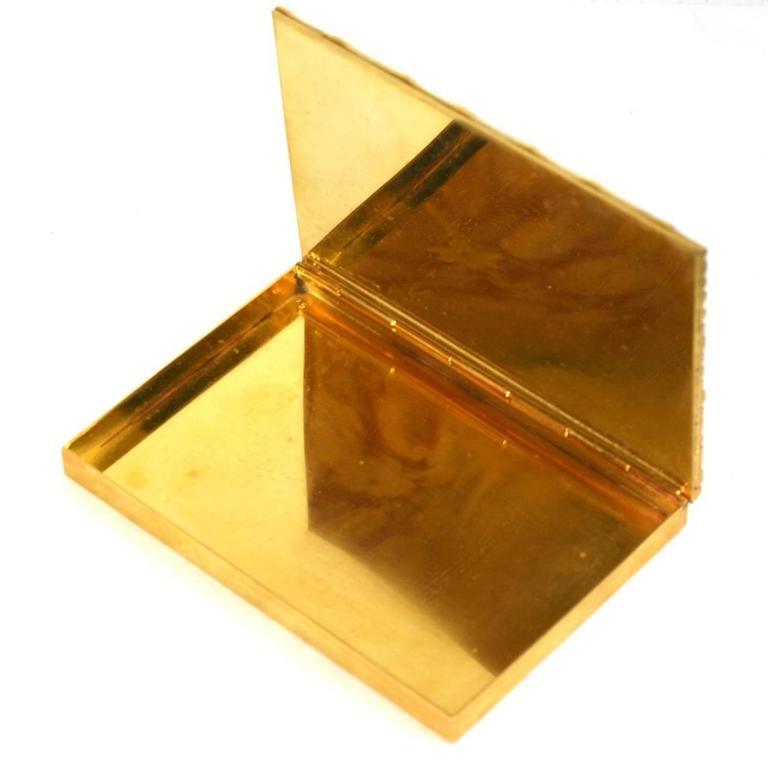 Brown Italian Gilt Bronze Bamboo Motif Box, Bonwit Teller For Sale