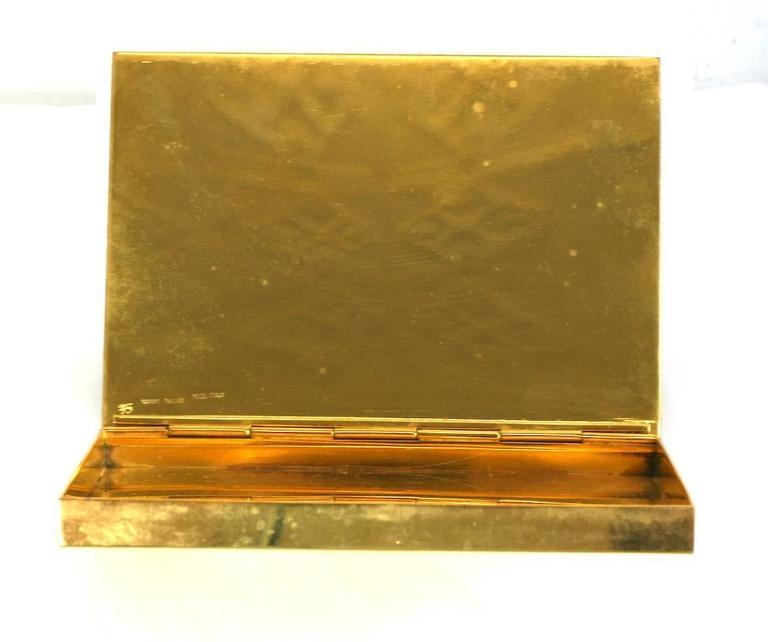 Italian Gilt Bronze Bamboo Motif Box, Bonwit Teller For Sale 1