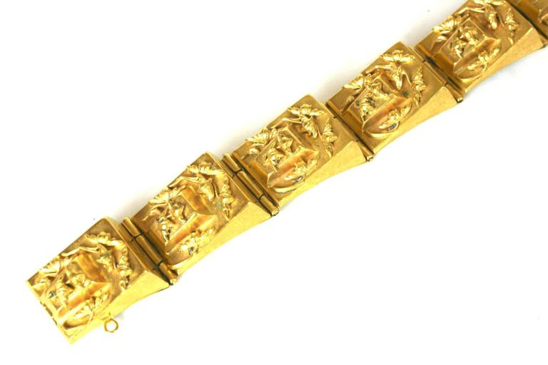 French 1930s Retro Link Bracelet In Excellent Condition For Sale In Riverdale, NY