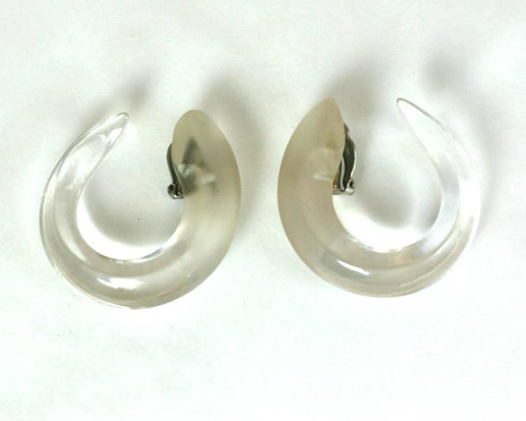 Patricia Von Musulin Frosted Hoops In Excellent Condition In Riverdale, NY