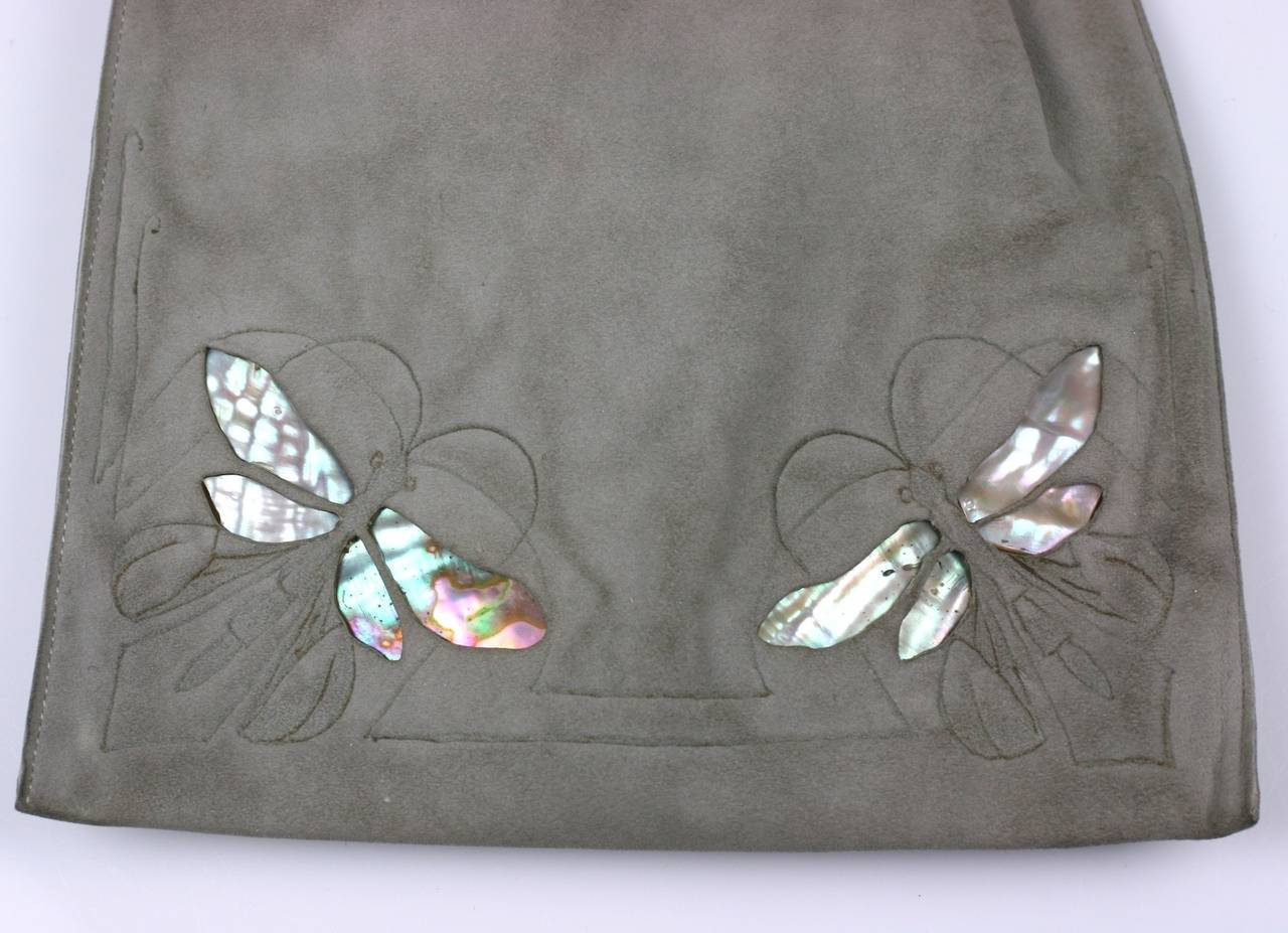 Wonderful Arts And Crafts Dragonfly Pouch For Sale At 1stdibs