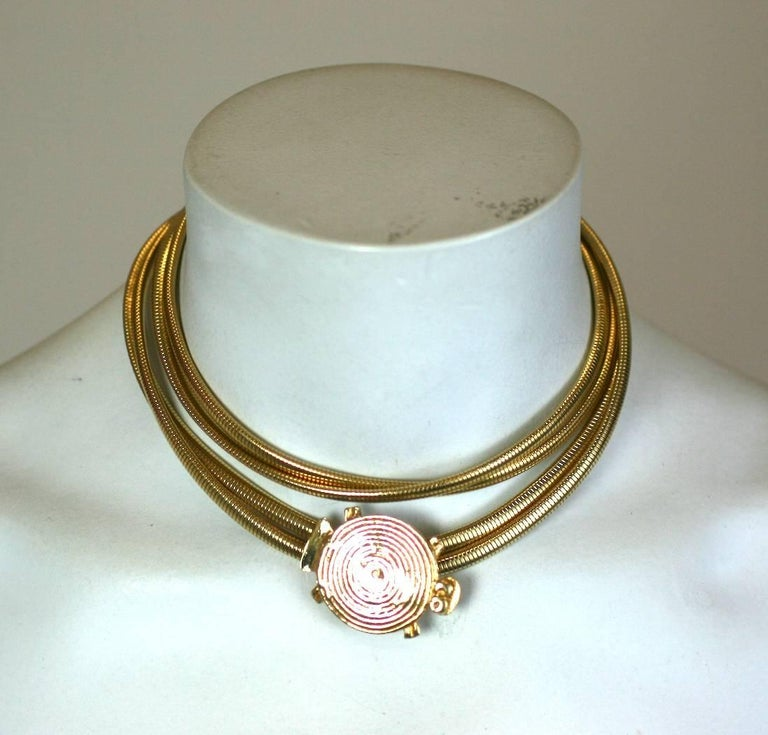 Pauline Trigere Gilt Turtle Belt/Necklace In Excellent Condition For Sale In Riverdale, NY