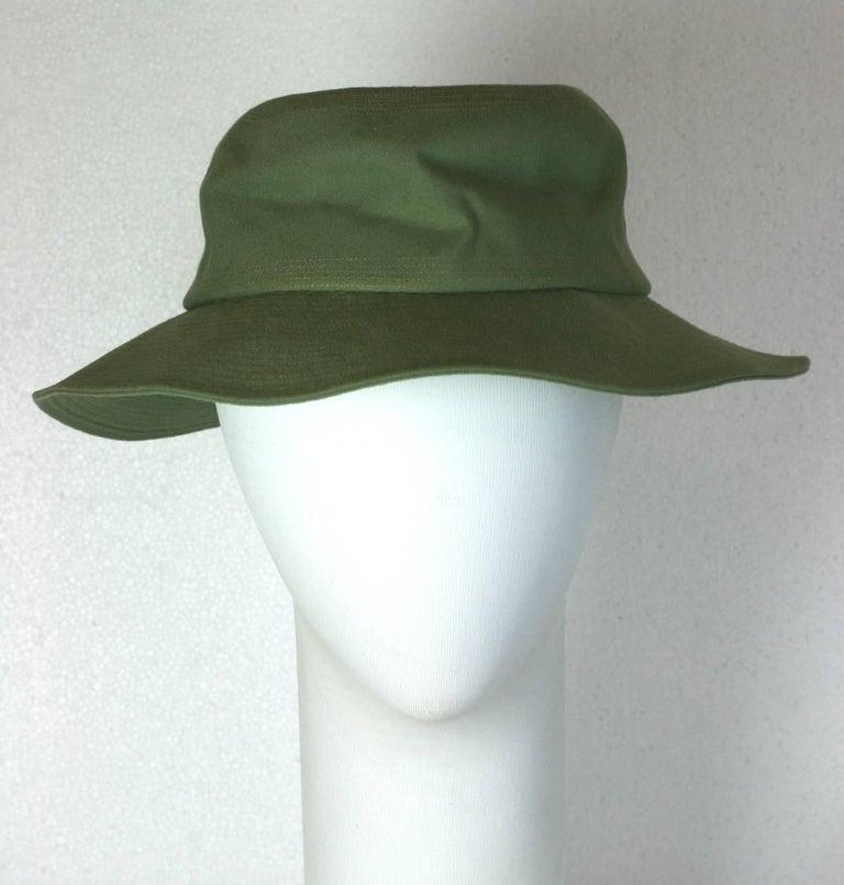 Gray Yves Saint Laurent by Alber Elbaz Fisherman Hat  For Sale