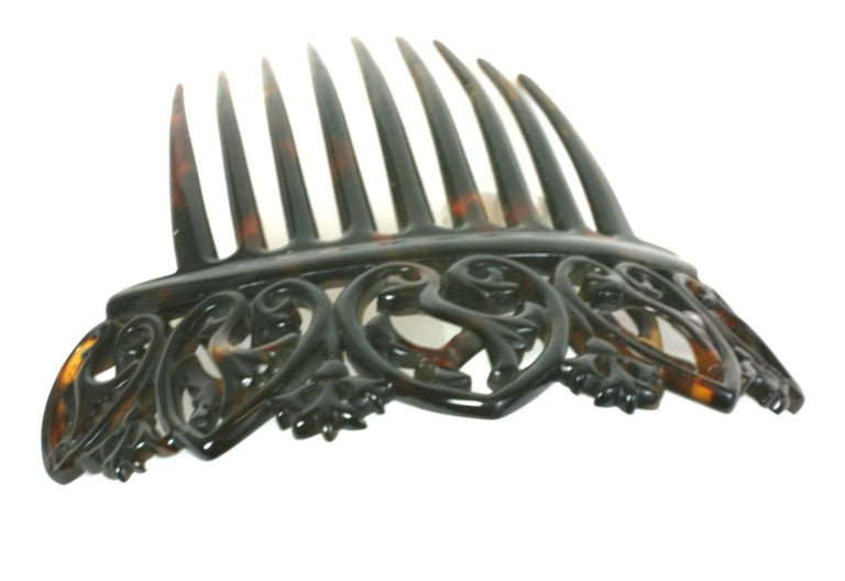 Elaborate Victorian Tortoise shell Comb For Sale 1