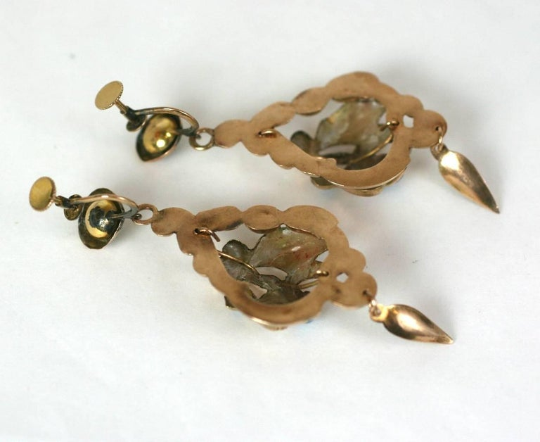 Victorian Enamel Earrings For Sale 1