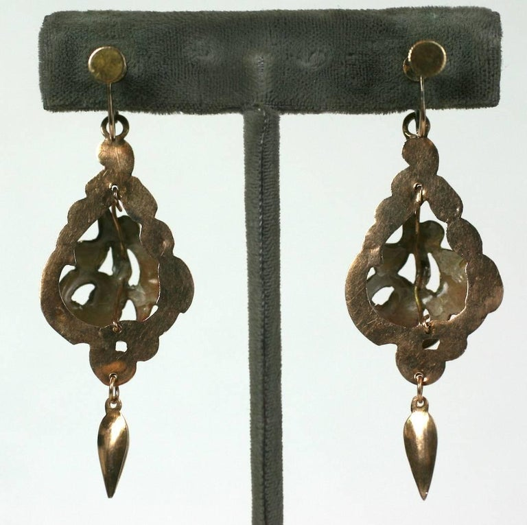 Victorian Enamel Earrings In Excellent Condition For Sale In Riverdale, NY