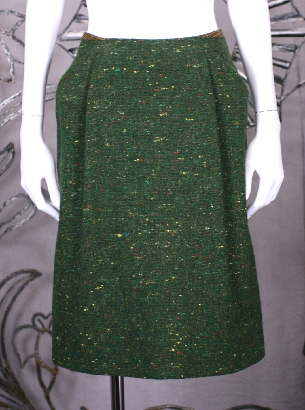 Geoffrey Beene Green Tweed Ensemble For Sale 2
