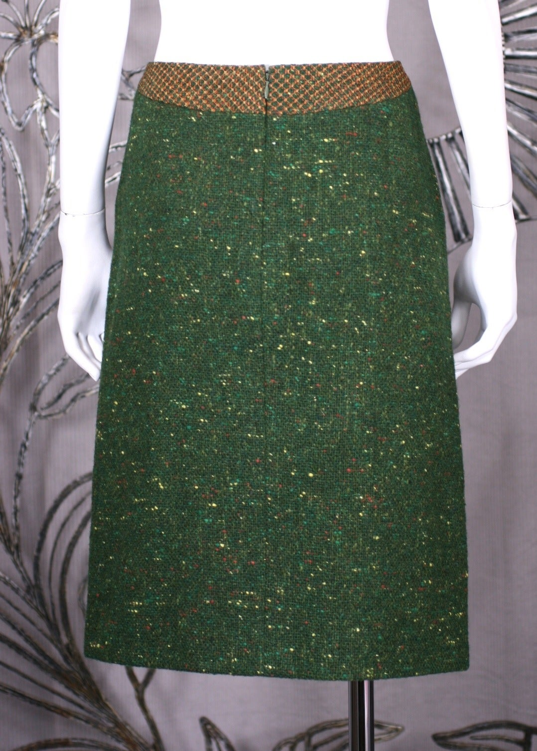 Geoffrey Beene Green Tweed Ensemble For Sale 3