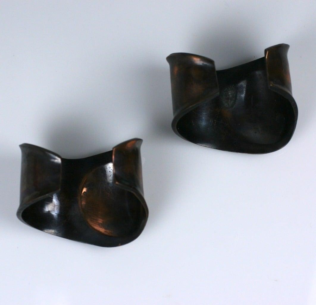Peretti Style Modernist Copper Cuffs 3
