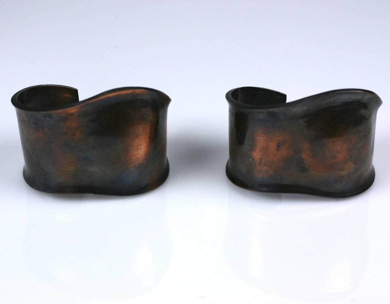 Peretti Style Modernist Copper Cuffs 4