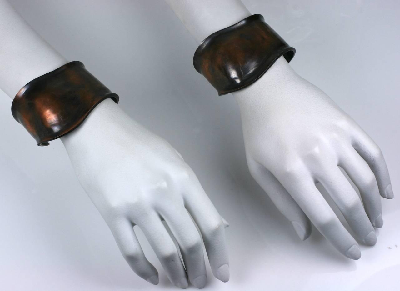 Peretti Style Modernist Copper Cuffs 6