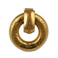 Celine Logo Scarf Clip