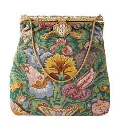 Victorian Micro Bead Floral Bag