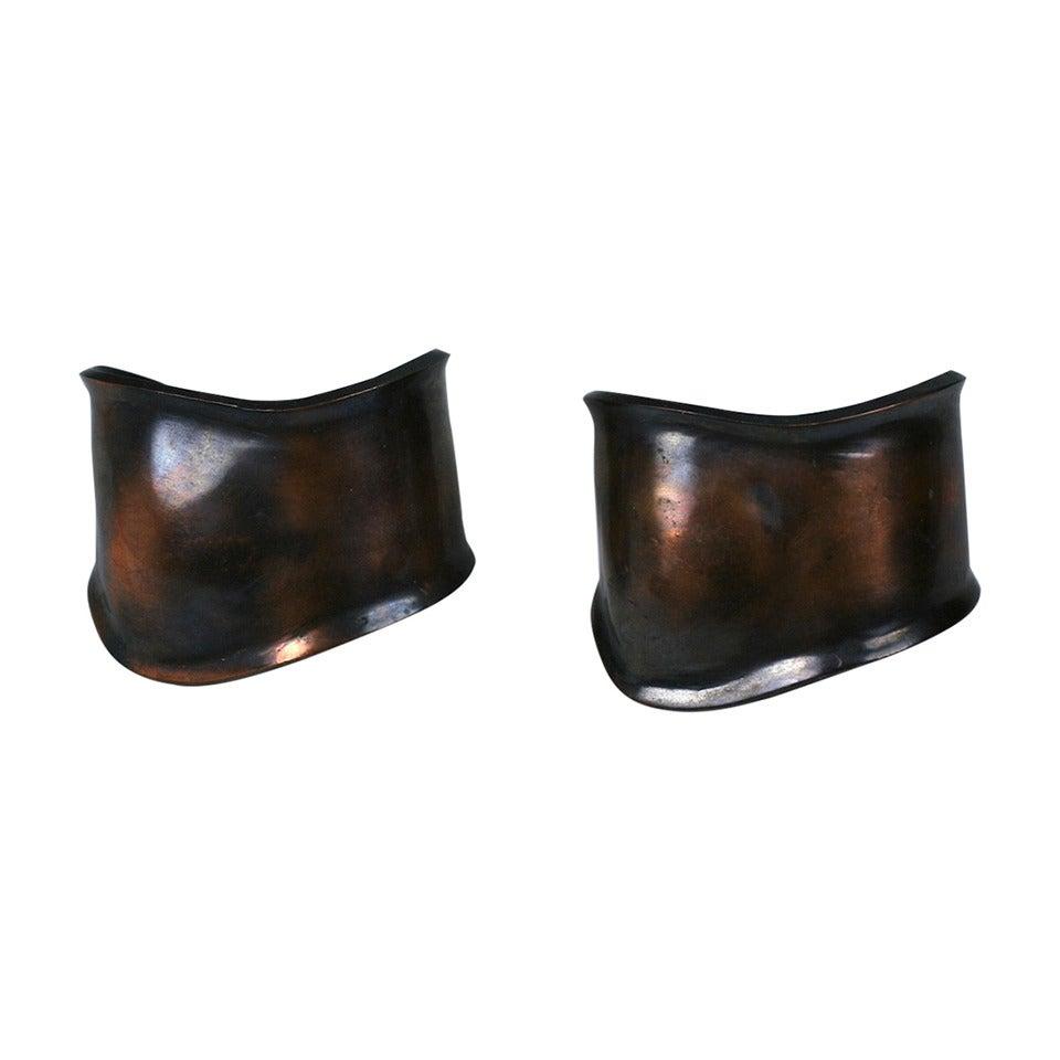 Peretti Style Modernist Copper Cuffs 1