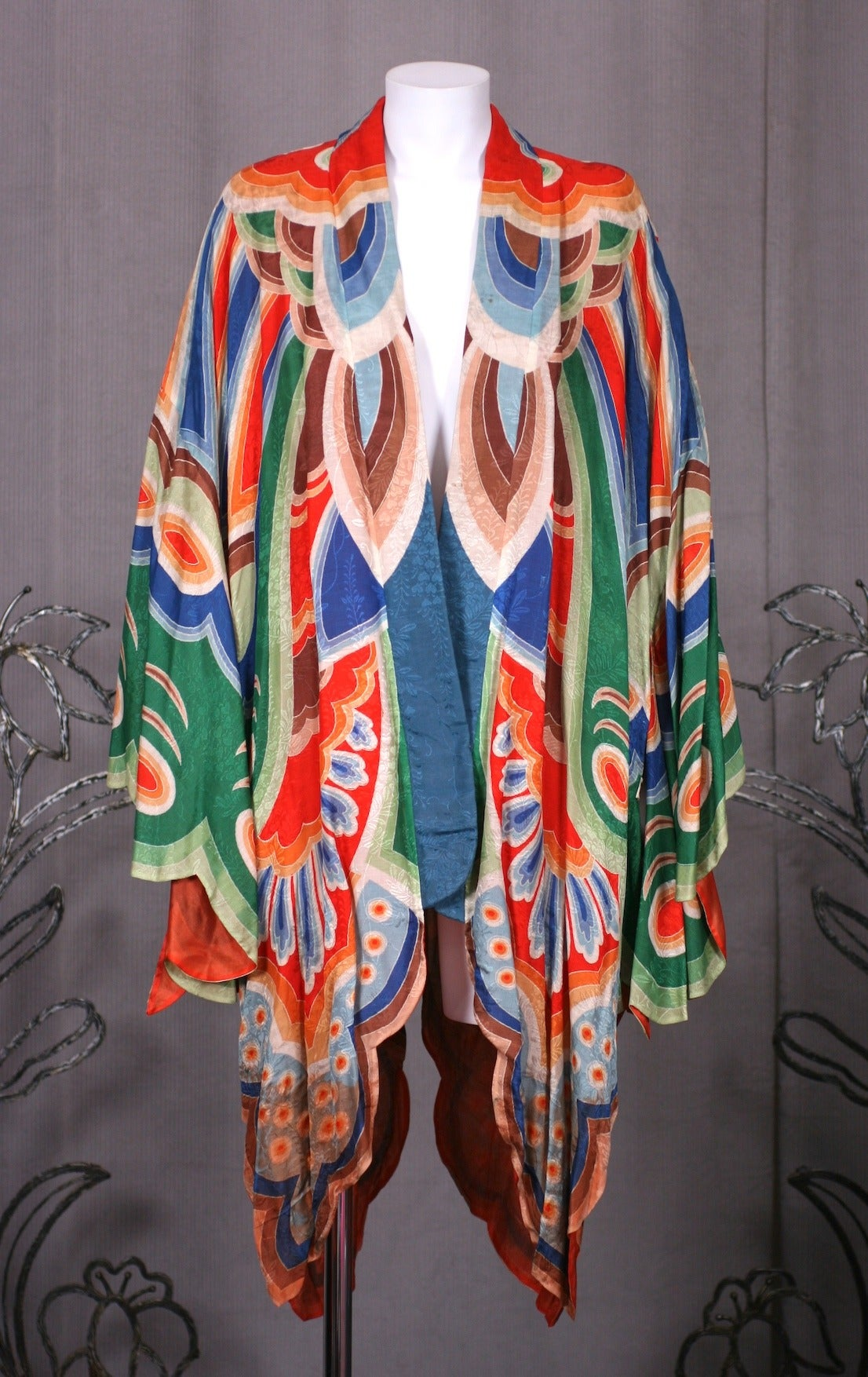 Art Deco Butterfly Kimono Dressing Gown 2
