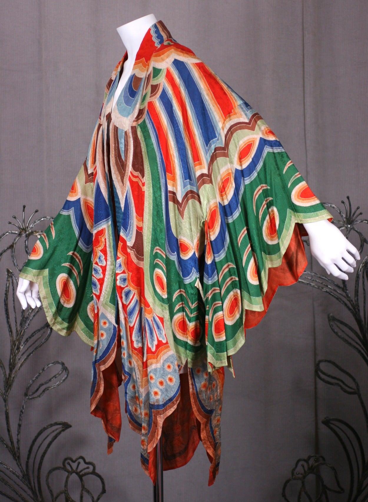 Art Deco Butterfly Kimono Dressing Gown 5