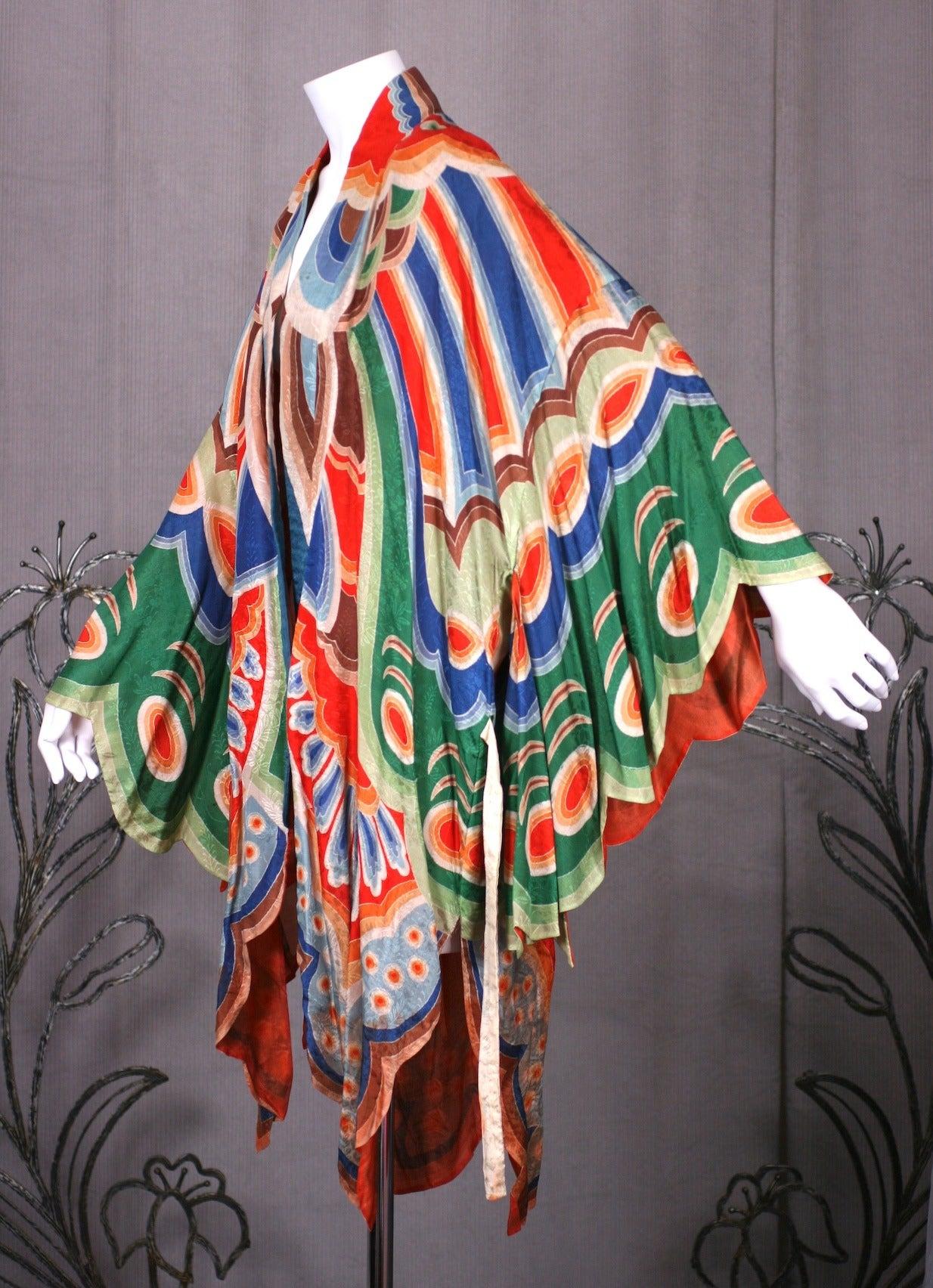 Art Deco Butterfly Kimono Dressing Gown 4