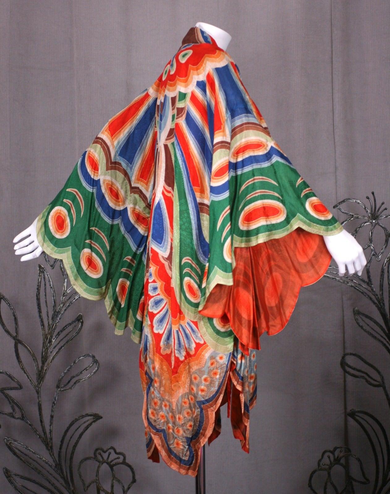 Art Deco Butterfly Kimono Dressing Gown 6