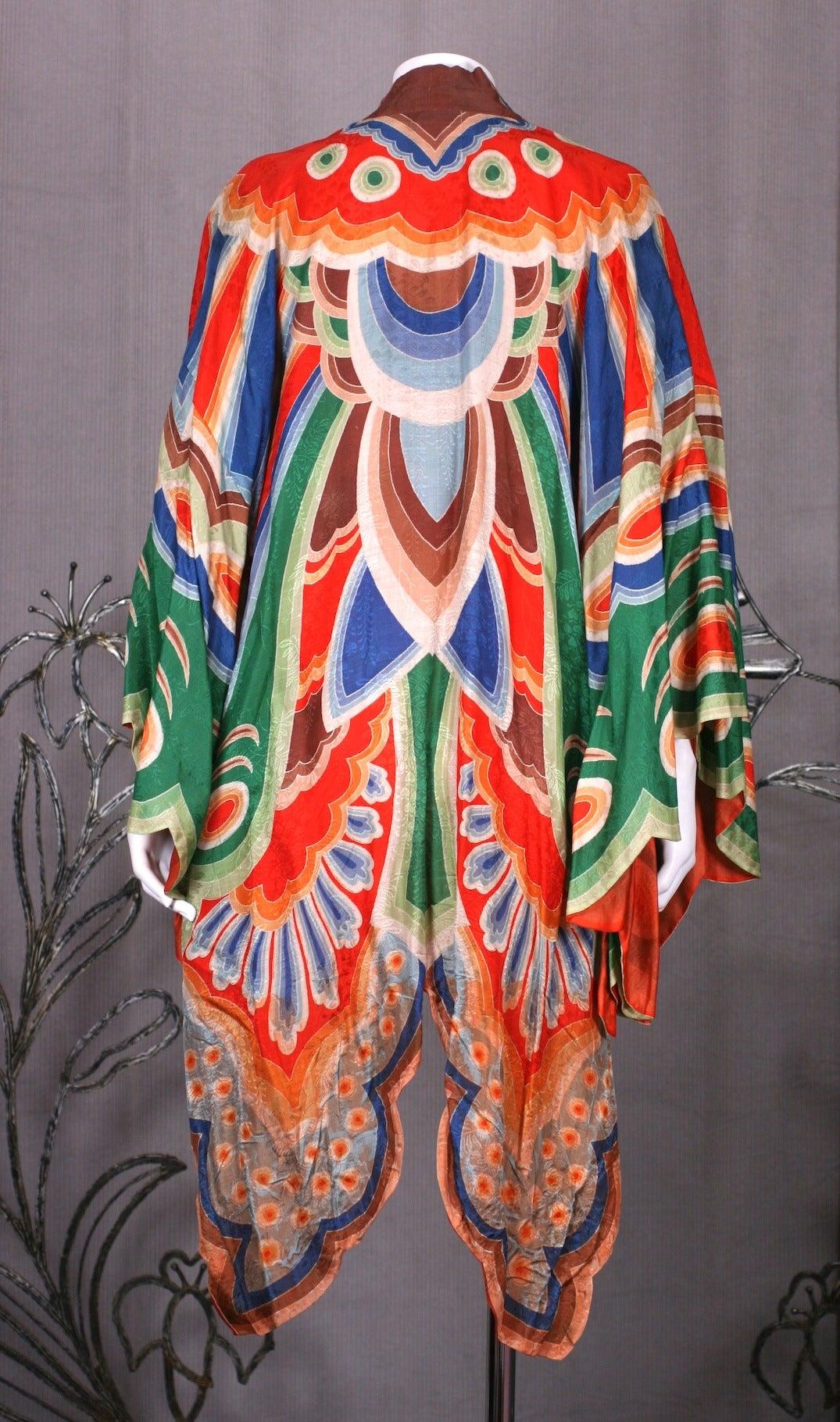 Art Deco Butterfly Kimono Dressing Gown 7