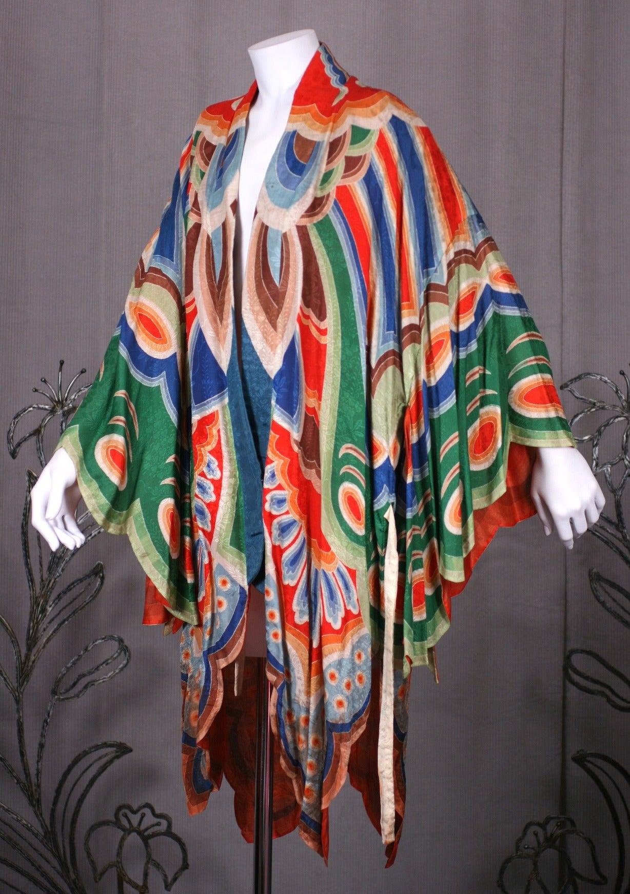 Art Deco Butterfly Kimono Dressing Gown 3