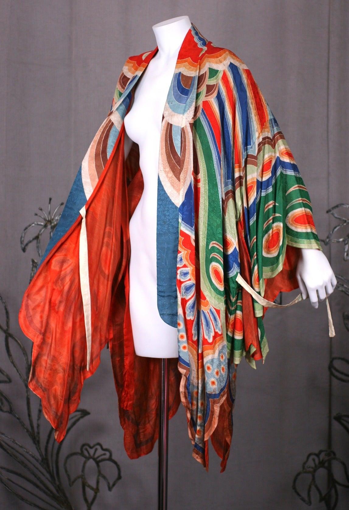 Art Deco Butterfly Kimono Dressing Gown 8