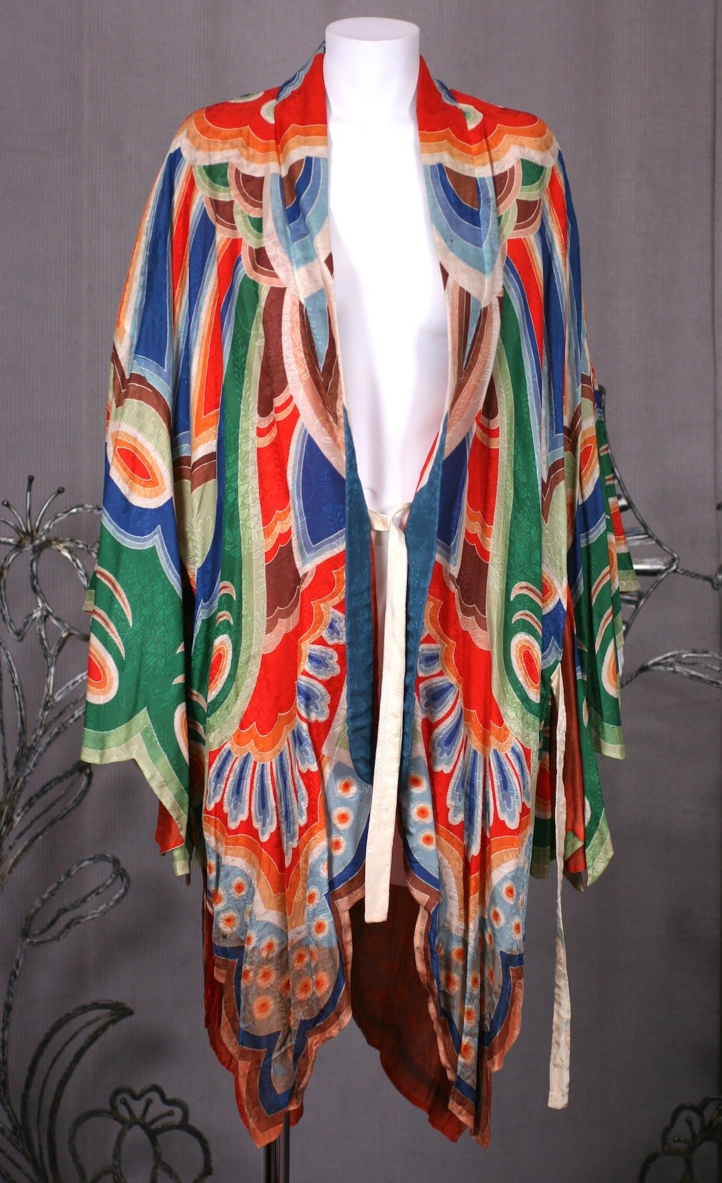 Art Deco Butterfly Kimono Dressing Gown 9