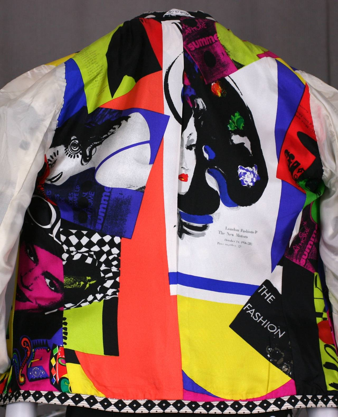 Versace Black and White Graphic Suit For Sale 4