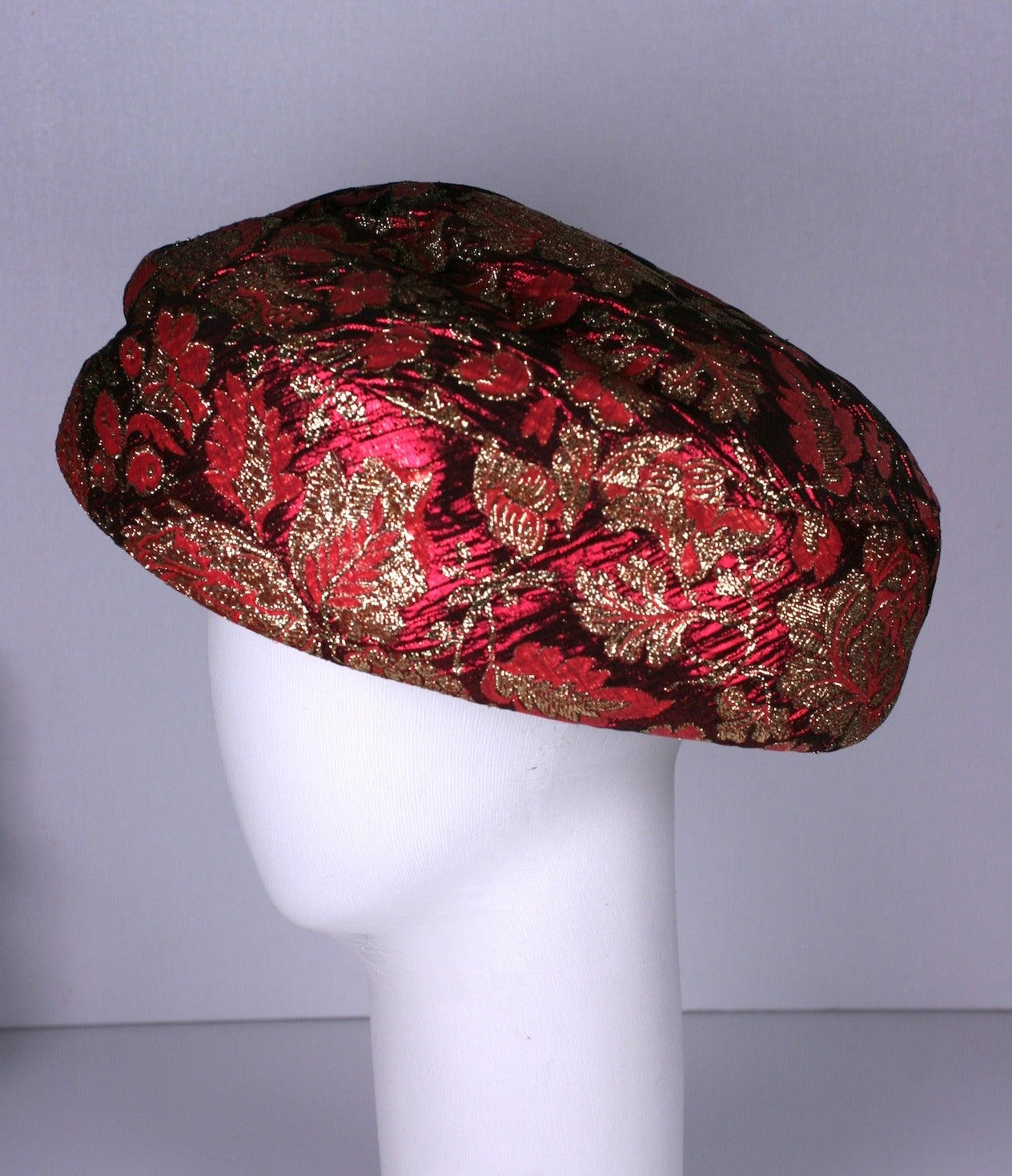 Jacques Heim Haute Couture Lame Broche Bowl Hat 2