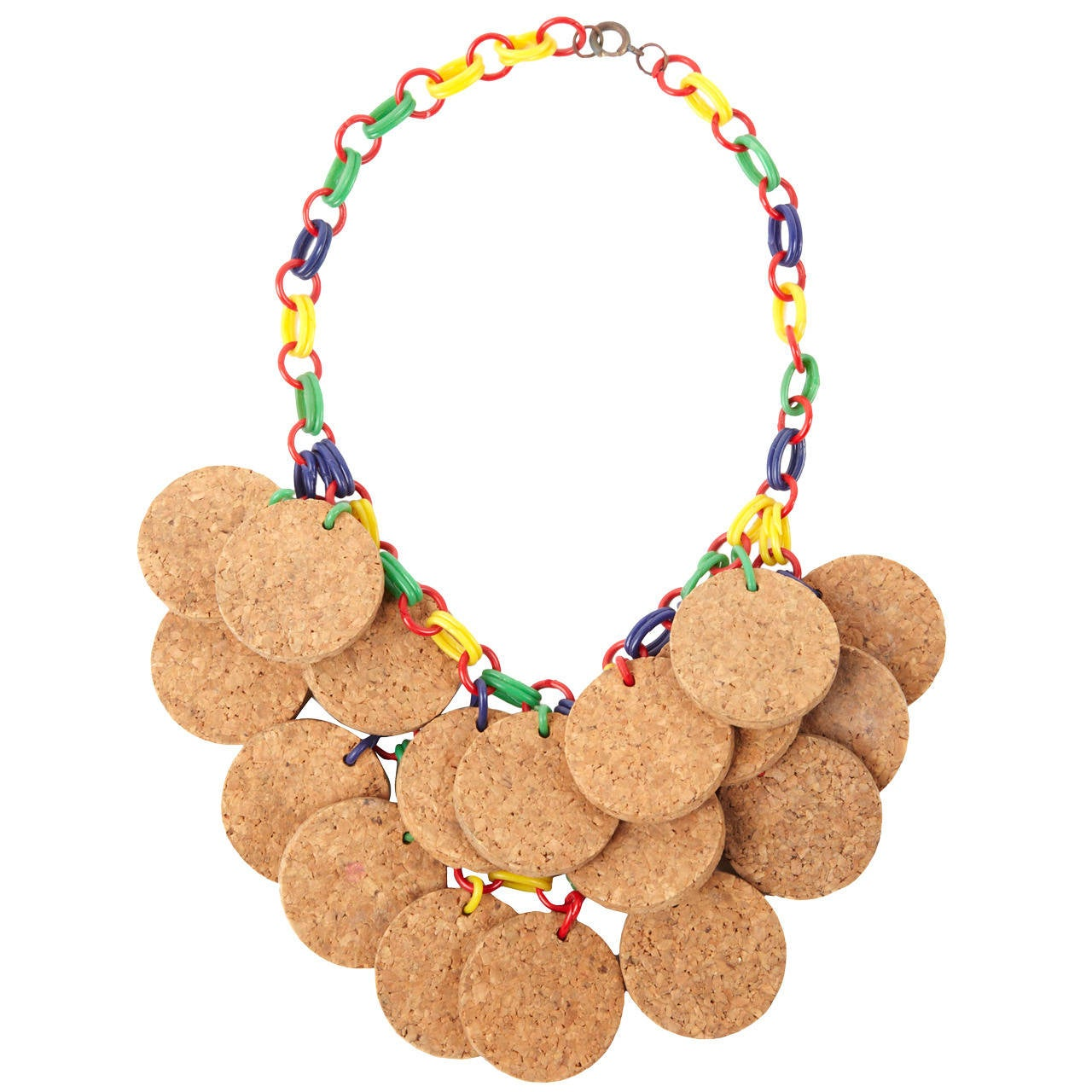 Cork Jewelry: Deco Bakelite And Cork Necklace For Sale At 1stdibs