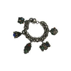 Chunky Italian Charm Bracelet