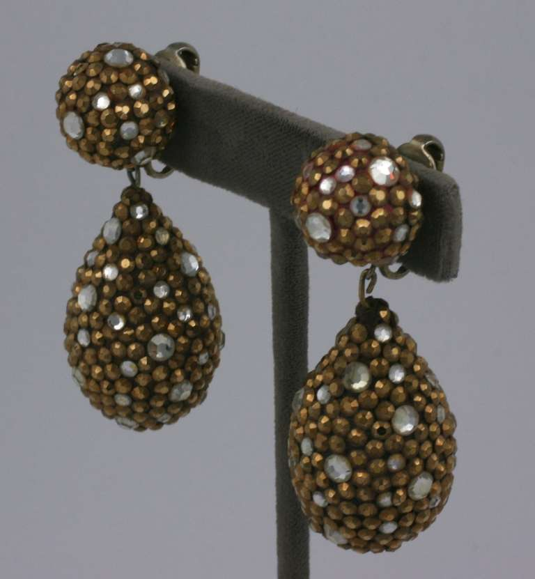 Arpad Copper Pave Earrings 2