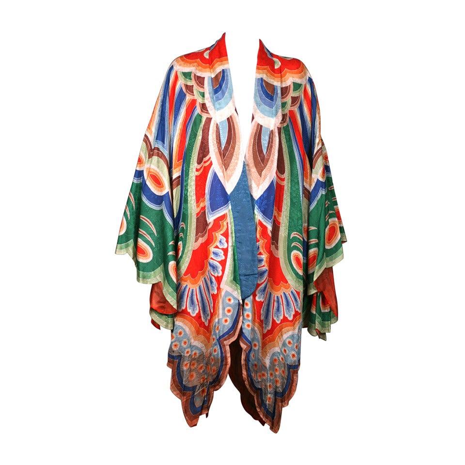 Art Deco Butterfly Kimono Dressing Gown 1