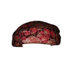 Jacques Heim Haute Couture Lame Broche Bowl Hat