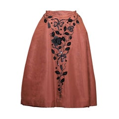 Charles James Tobacco Taffeta Cocktail Skirt
