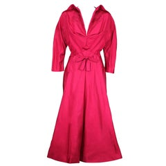 Charles James Magenta Faille Cocktail Dress