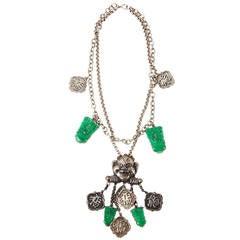 Amusing Asian Style Art Deco Necklace