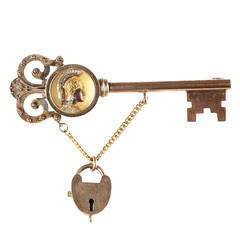 Victorian Lock and Key Brooch