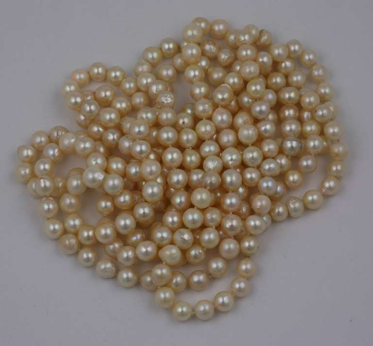 Women's Triple Strand Cultured Pearl Necklaces For Sale