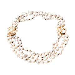 Miriam Haskell Fresh Water Pearl Convertible Necklace