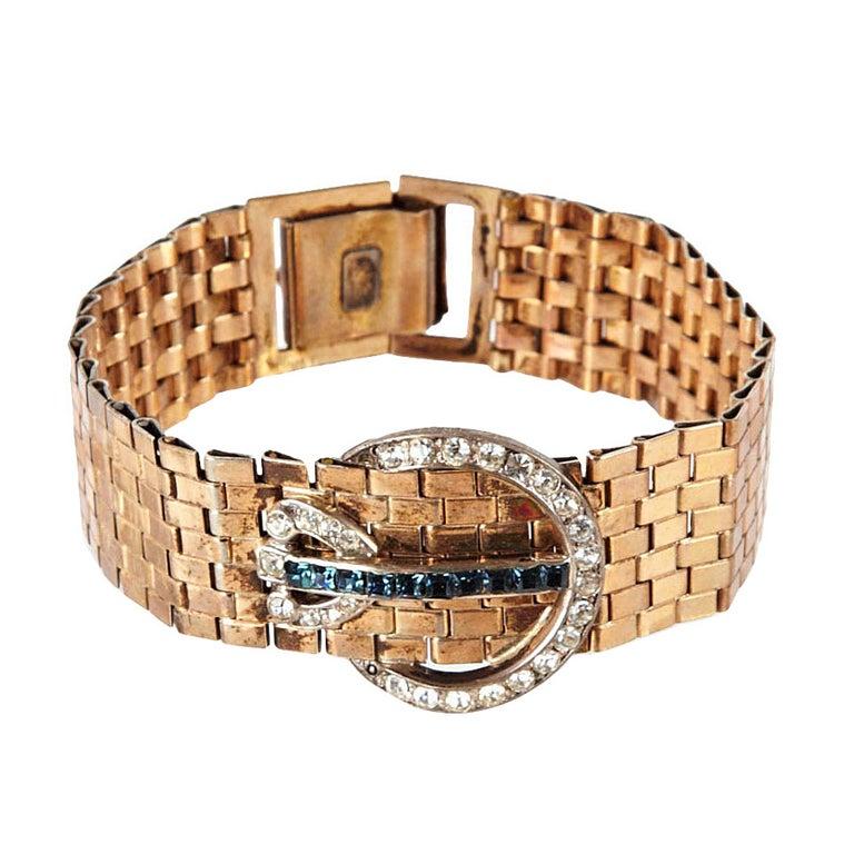 Kreisler Retro Link Buckle Bracelet For Sale