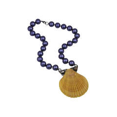 Industrial Scallop Shell Necklace, MWLC
