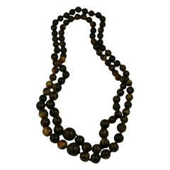 Double Strands Marbleized Bakelite Beads